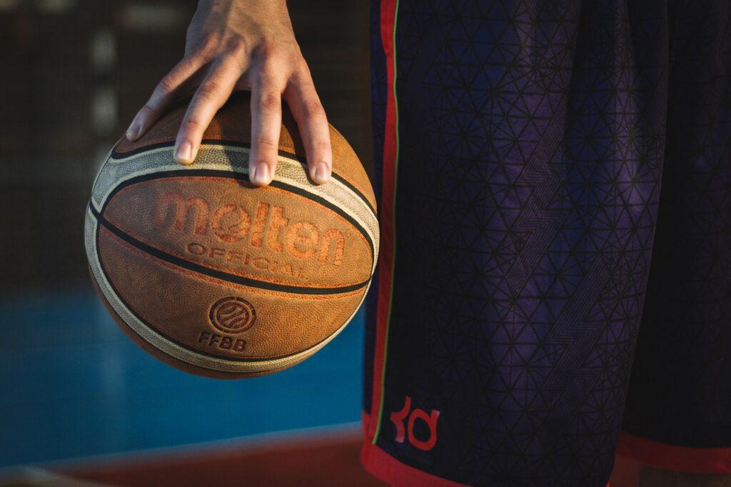 ball, basketball, man
