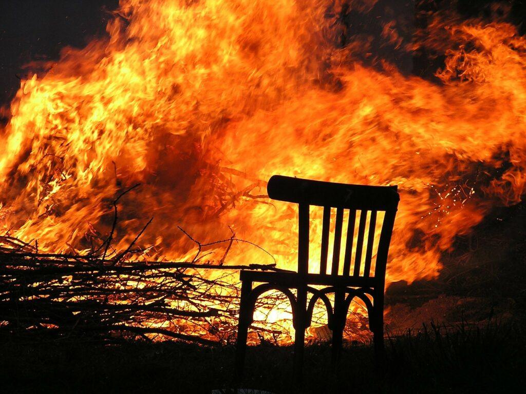 fire, flame, burn