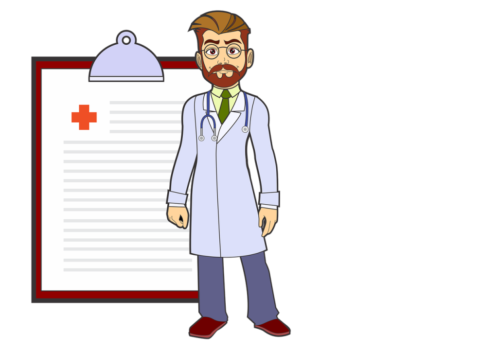 doctor, man, illustration