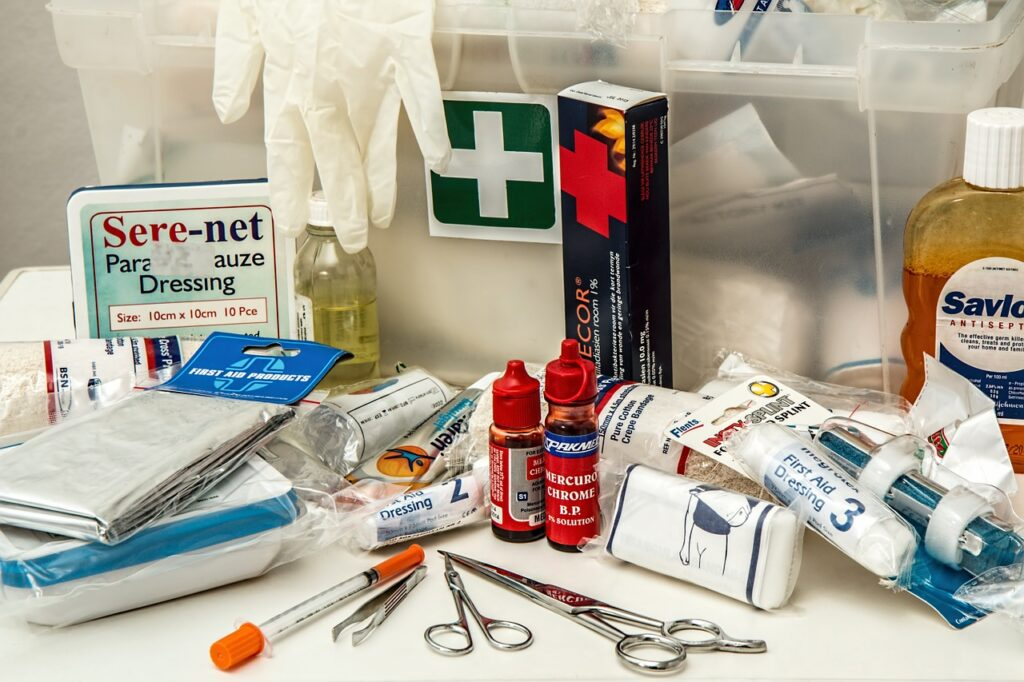 first aid, kit, first aid kit
