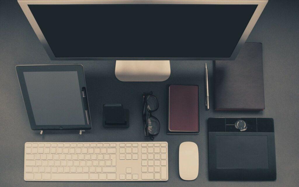 computer, accessories, monitor